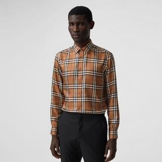 Burberry Slim Fit Vintage Check Silk Shirt