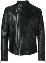 Versace biker jacket - men - Lamb Skin/Polyester - 50