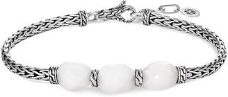 John Hardy 'Classic Chain' quartz station silver bracelet