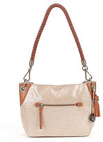 The Sak Indio Sparkle Tasseled Demi Small Hobo Bag