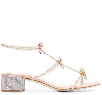 Rene Caovilla Caterina 80mm bow sandals