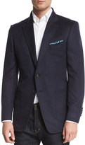 Tom Ford O'Connor Base Brushed Cashmere Twill Blazer, Navy