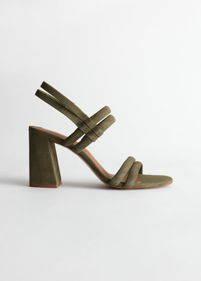 And other stories Suede Slingback Heeled Sandals