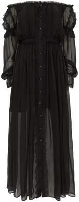 Faith Connexion Mesh and Lace Maxi Dress