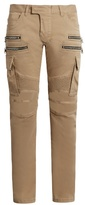 Balmain Biker Double-zip Slim-leg Trousers