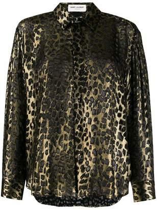 Saint Laurent Classic Button Down Leopard Shirt