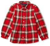Ralph Lauren Girls 2-6x Plaid Pintuck Front Shirt
