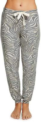 Chaser Slouchy Zebra Print Jogger Pants