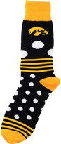For Bare Feet Iowa Hawkeyes Dots and Stripes 538 Socks