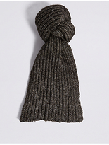 M&S Collection Metallic Ribbed Scarf
