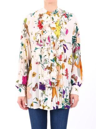 Gucci Floral Print Blouse
