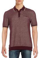 Ben Sherman Textured Cotton Polo Shirt
