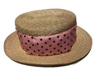 Miu Miu Gold Wicker Hats