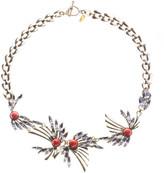 Anton Heunis Leaf Crystal Necklace