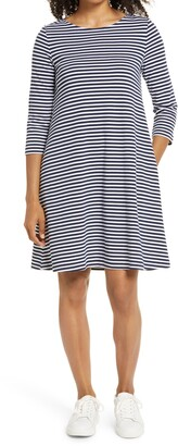 1901 Tie Back Stripe Knit Dress