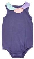 Margherita Infant Girl's Daisy Collar Bubble Bodysuit