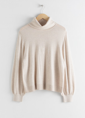 And other stories Soft Wool Blend Turtleneck Sweater