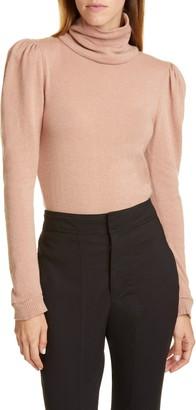Johanna Ortiz Open Back Puff Shoulder Cashmere Sweater