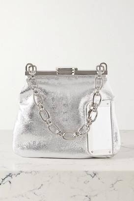 BIENEN-DAVIS 5am Metallic Textured-leather Tote - Silver