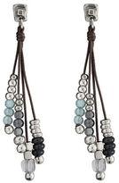 Uno De 50 Beaded Crystal Drop Earrings