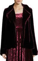 Nanette Lepore Sophia Hook-Front Velvet Jacket