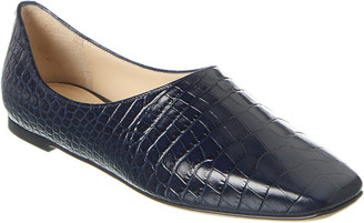 Jimmy Choo Joselyn Croc Embossed Leather Loafer