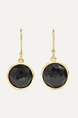 Ippolita Lollipop 18-karat Gold Onyx Earrings