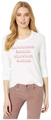 good hYOUman Rigby Empowered Women Long Sleeve (Optic White) Women's Clothing