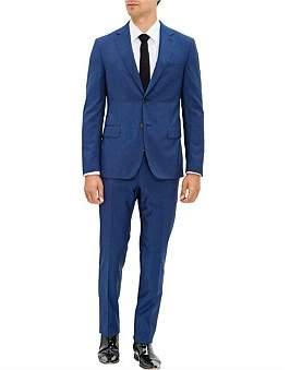 Pal Zileri 2B Sb Sv Fl Pkt Notch Lapel Wl Gentleman Micro Check Suit