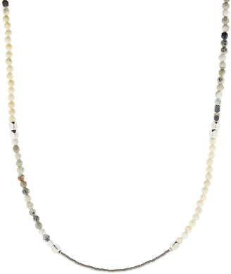 Brunello Cucinelli Beaded Silver Strand Bracelet and Necklace