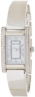Anne Klein Women's Crystal Bangle Watch