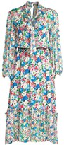 Shoshanna Galen Floral Blouson Midi Dress