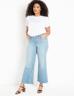 ELOQUII Kick Flare Leg Jeans