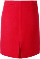 Courreges front slit skirt - women - Acetate/Cupro/Wool - 36