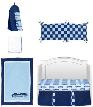 Pam Grace Creations Vintage Like Race cars 6 Piece Crib Bedding Set Bedding