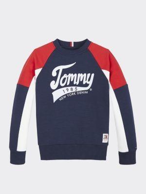 Tommy Hilfiger 1985 Logo Colour-Blocked Sweatshirt