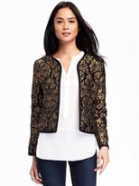 Old Navy Jacquard Open-Front Jacket for Women