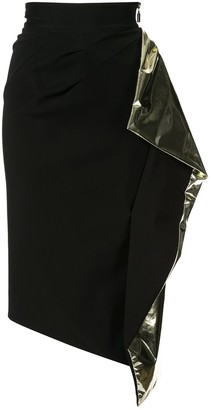 Maticevski Alkali draped detail skirt