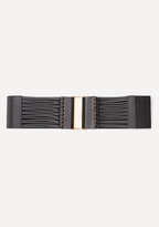 Bebe Strappy Wide Stretch Belt