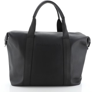 Balenciaga Logo Zip Satchel Leather Large