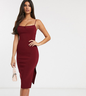 Bec & Bridge exclusive karina midi dress with ruched bust