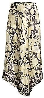 Rebecca Taylor Women's Floral Handkerchief-Hem Silk Skirt