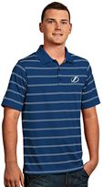 Antigua Tampa Bay Lightning Deluxe Striped Desert Dry Xtra-Lite Performance Polo - Men