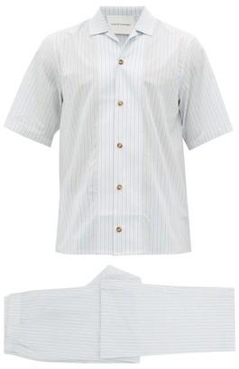 KING & TUCKFIELD Striped Pyjama Set - Cream Multi