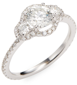 Rina Limor Fine Jewelry 18K White Gold & 1.33 Total Ct. Diamond Engagement Ring