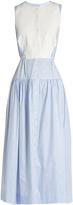 Palmer Harding PALMER/HARDING Sleeveless pinstriped cotton shirtdress