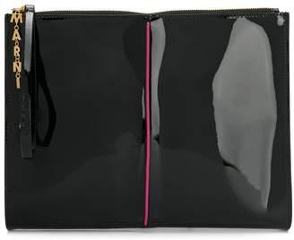 Marni glossy effect clutch bag