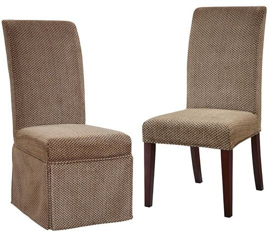 Chenille checked dining chair slipcovers