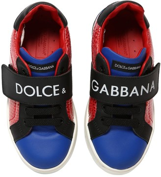 Dolce & Gabbana Logo Color Block Pvc & Leather Sneakers