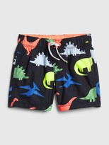 Gap Baby Dino Print Swim Trunks